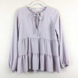 Aritzia Wilfred Odette Lavender Blouse XS